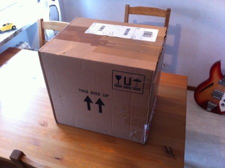 Äntligen fick jag mitt paket.